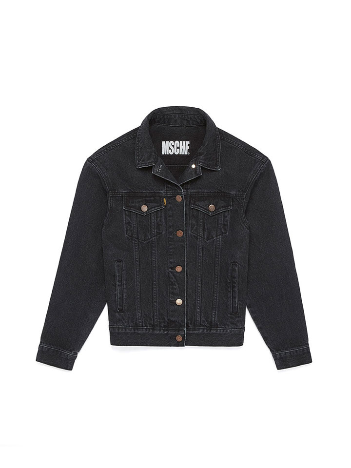 DENIM TRUCKER JACKET_black