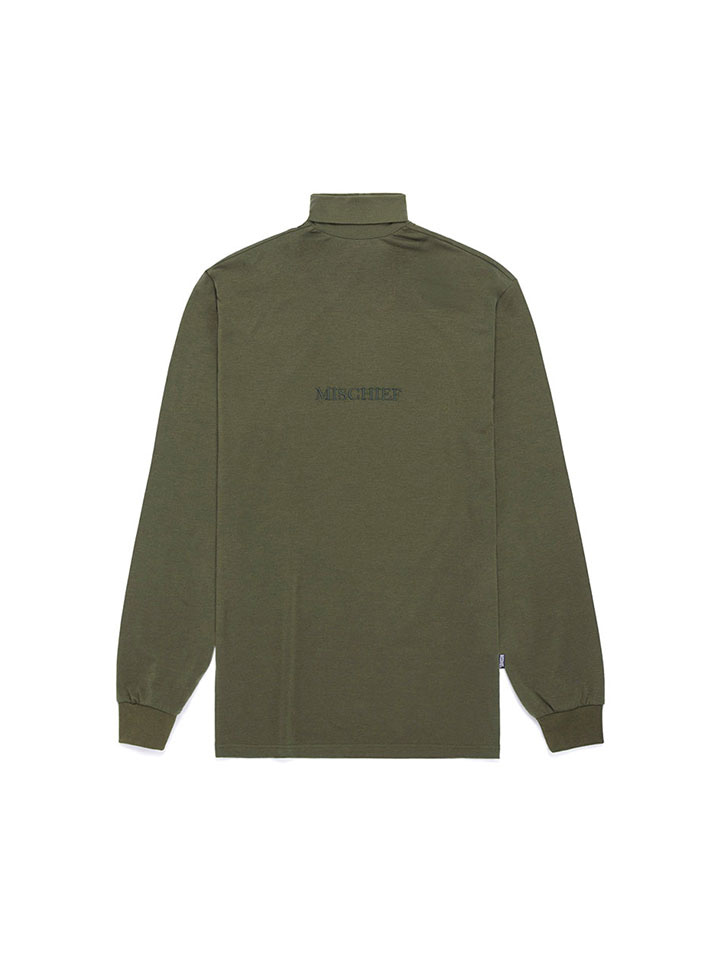 TURTLENECK LONG SLEEVE_khaki
