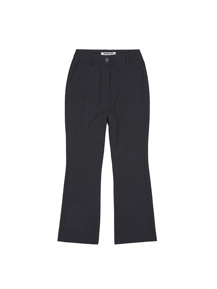 STRIPE SLACKS_black