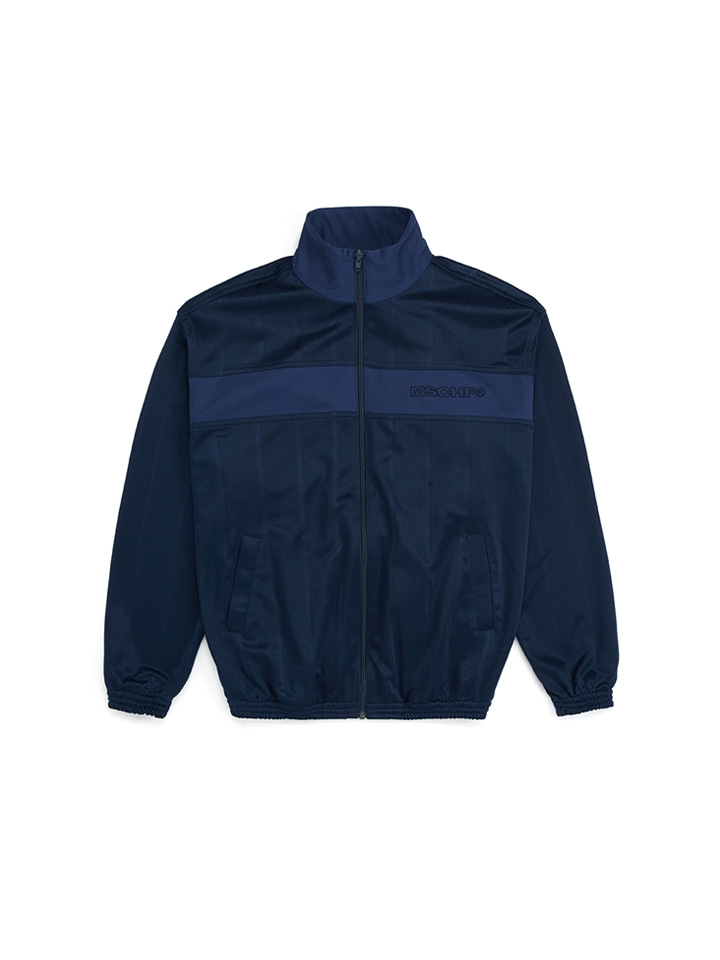 STRIPE TRACK JACKET_navy