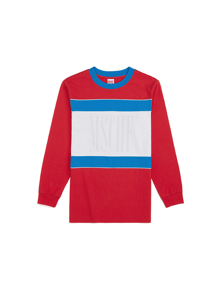 COLOR BLOCK LONG SLEEVE_red/blue/white