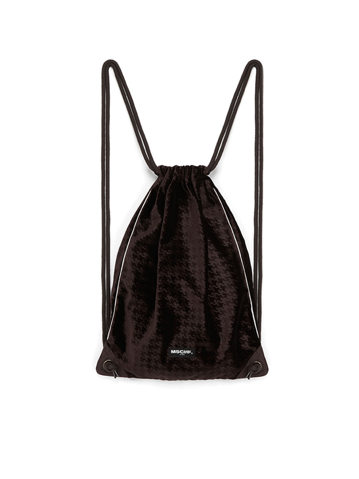 VELVET GYM SACK_brown