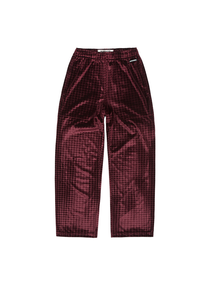 VELVET SILK PANTS_burgundy
