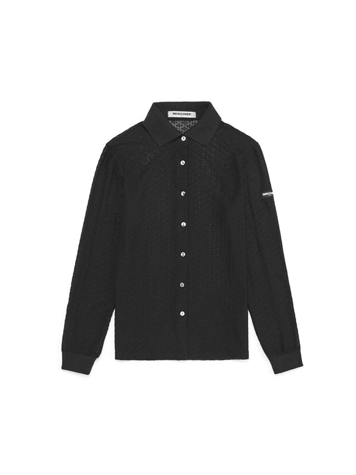 LACE SHIRTS_black