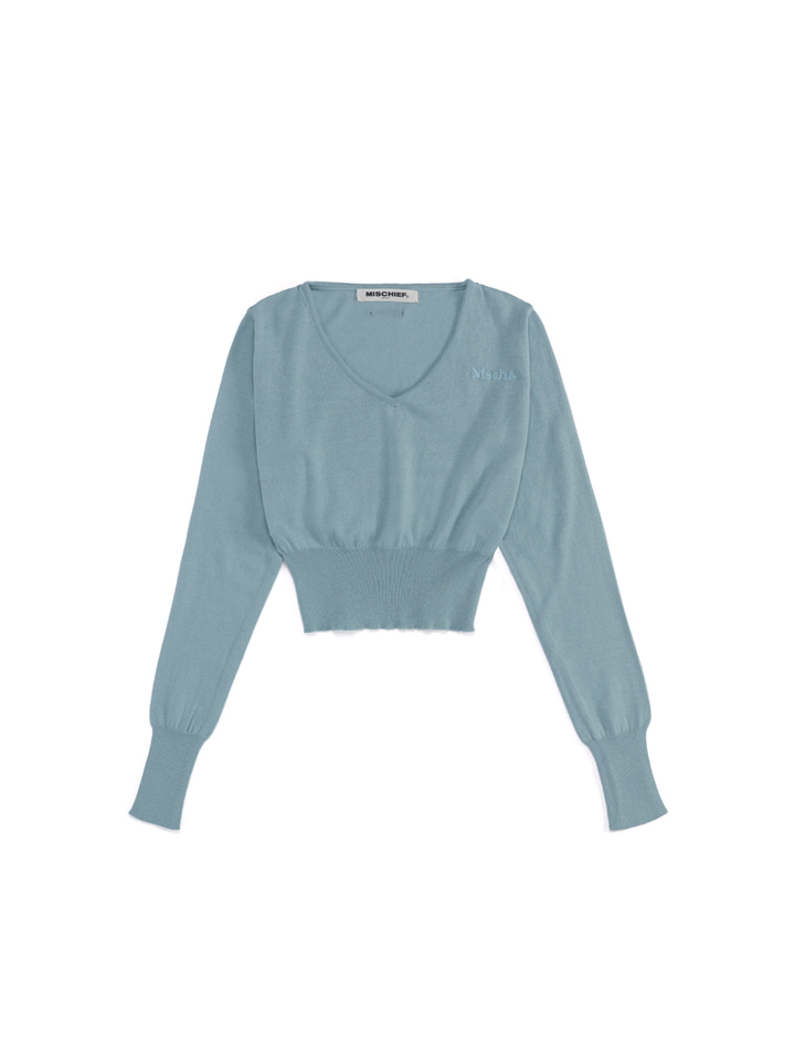 CROPPED KNIT_columbia blue