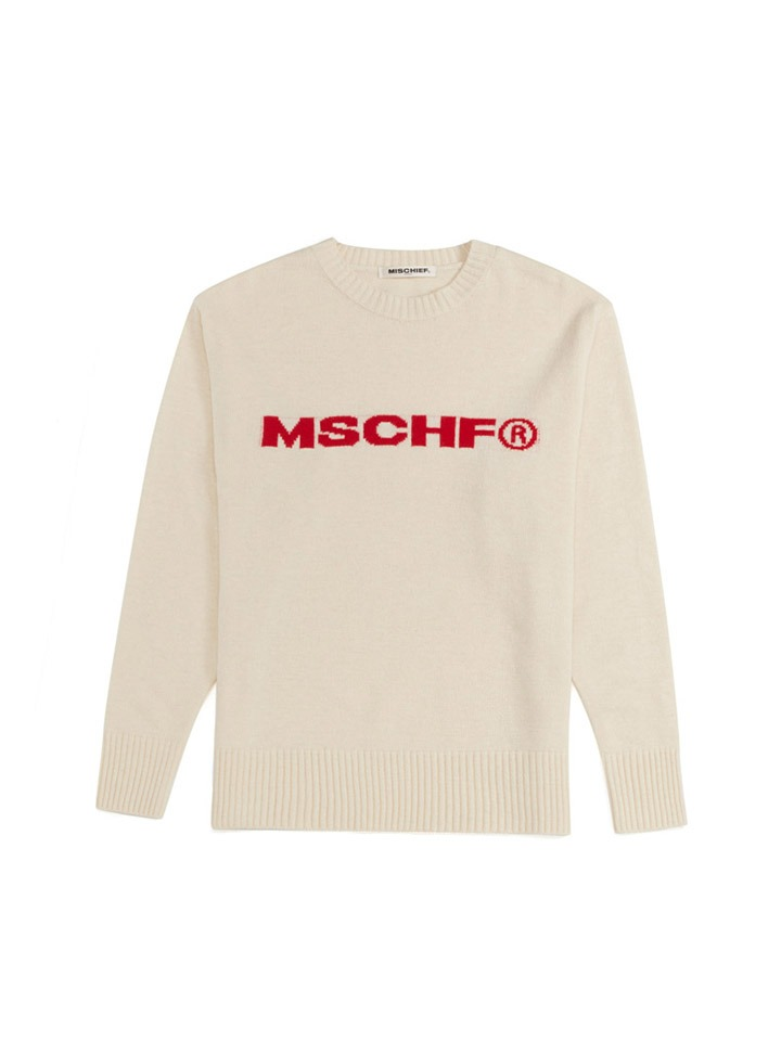 INTARSIA KNIT CREWNECK_cream
