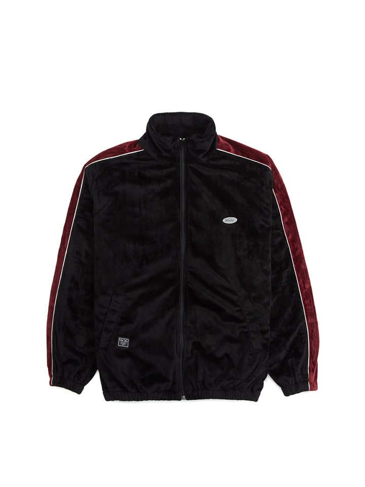 VELBOA TRACK ZIP UP_black/burgundy