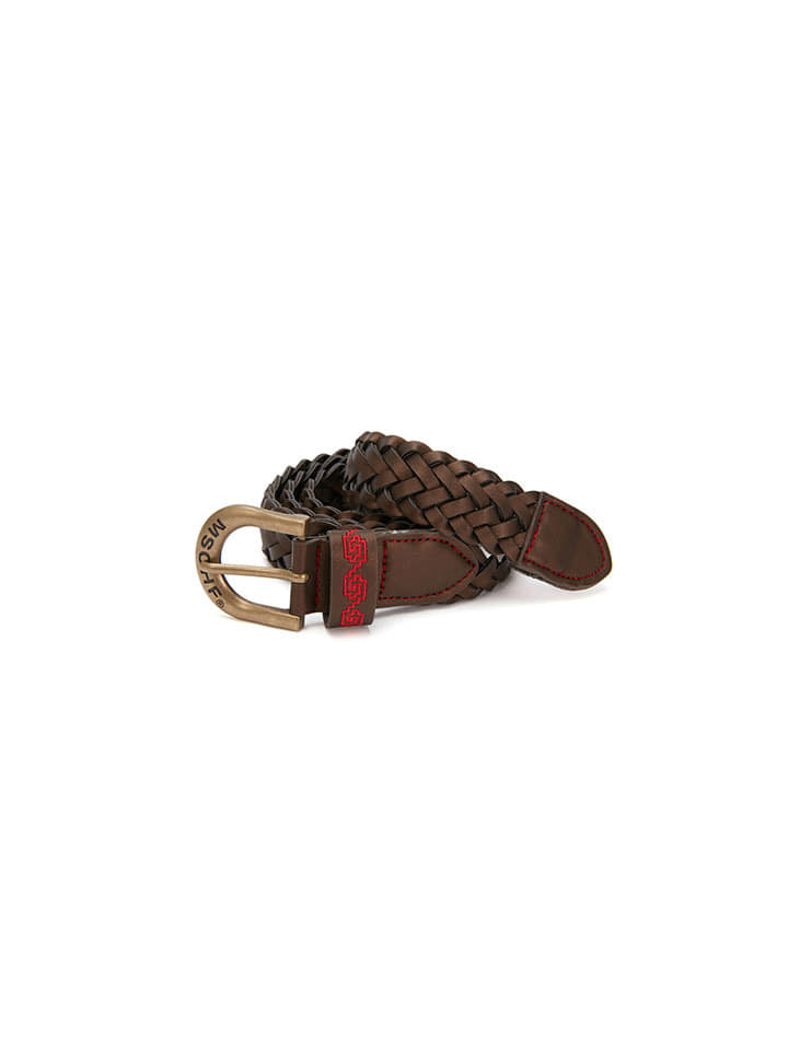 WEAVED STITCH BELT_brown
