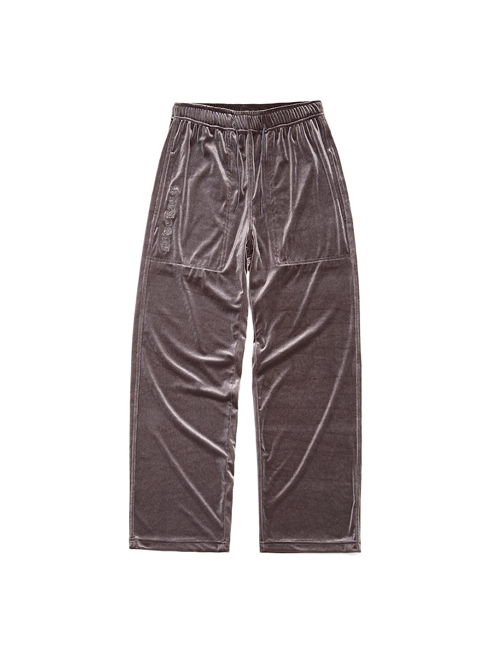 VELVET SILK PANTS_gray