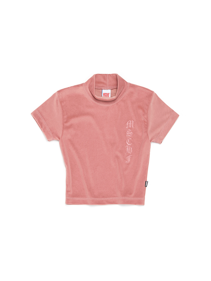 FITTED VELOUR_cream pink