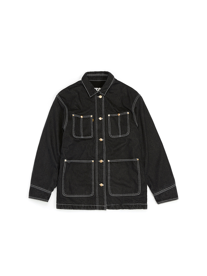 DENIM WORK JACKET_black