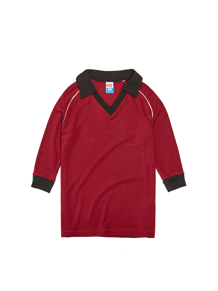 COLLARED JERSEY_burgundy