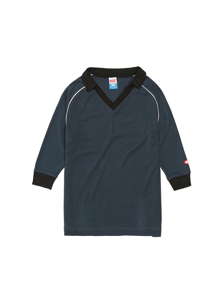 COLLARED JERSEY_navy