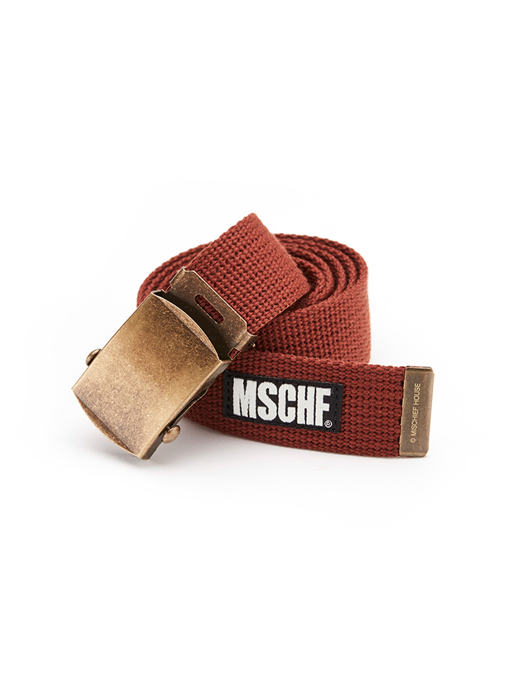 MILITARY CANVAS BELT_brick red