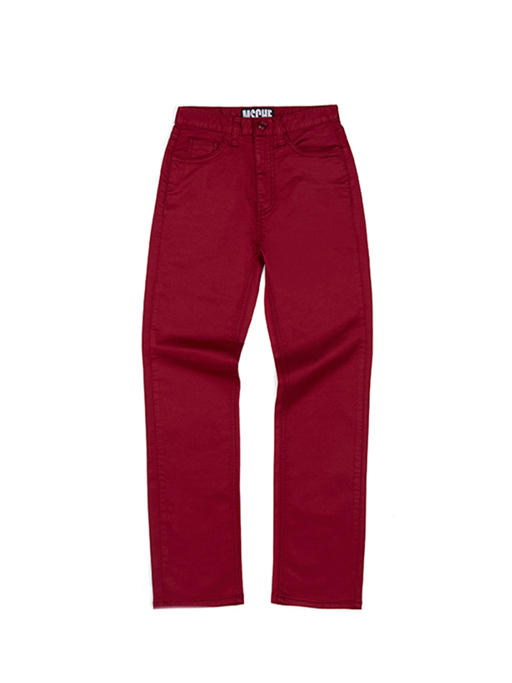 STRAIGHT PANTS_red