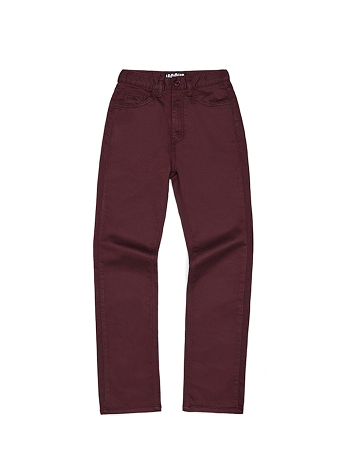 STRAIGHT PANTS_burgundy