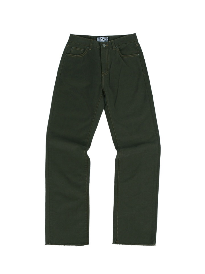 CROPPED DENIM_khaki