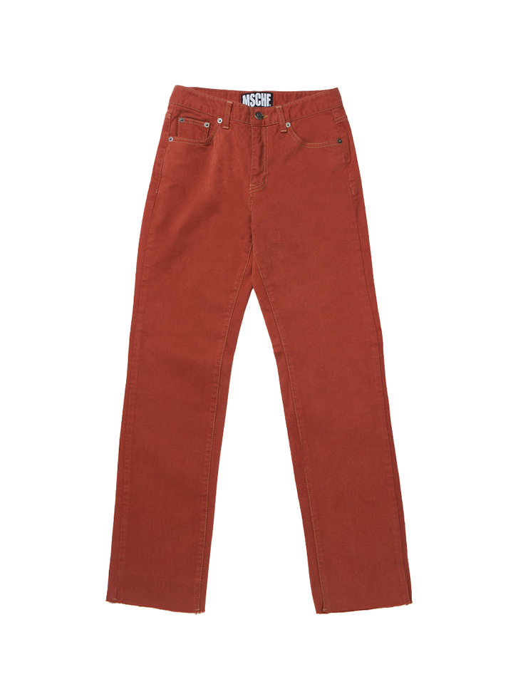 CROPPED DENIM_orange