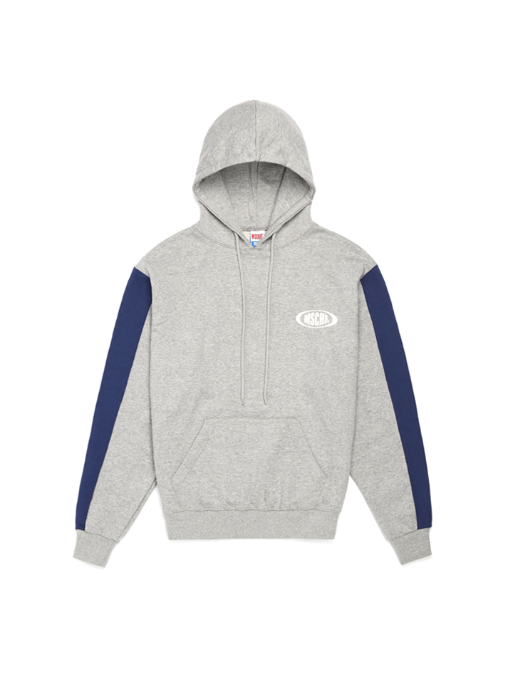 COLOR BLOCK HOODIE_gray/blue