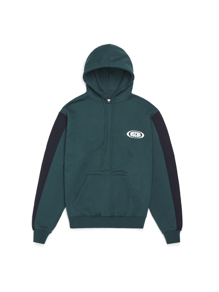 COLOR BLOCK HOODIE_green/navy