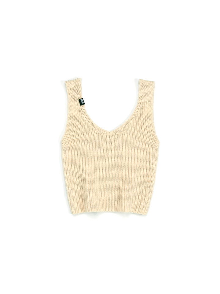 KNIT CROP TOP_cream