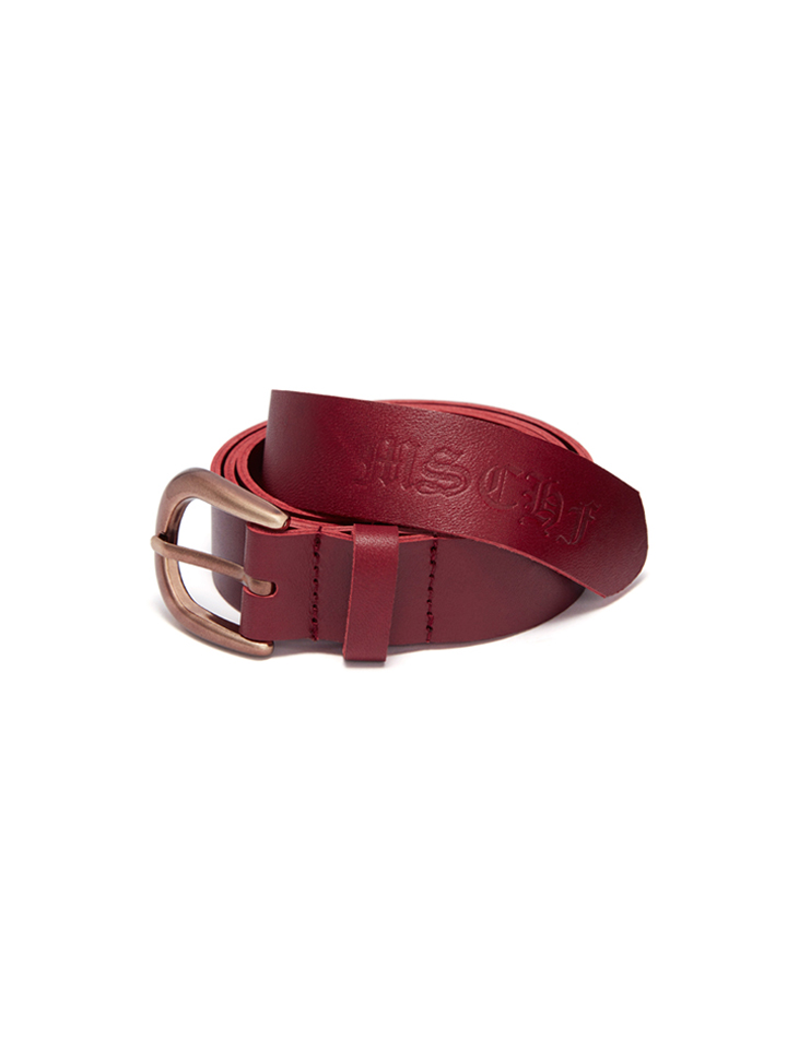 LEATHER BELT_burgundy