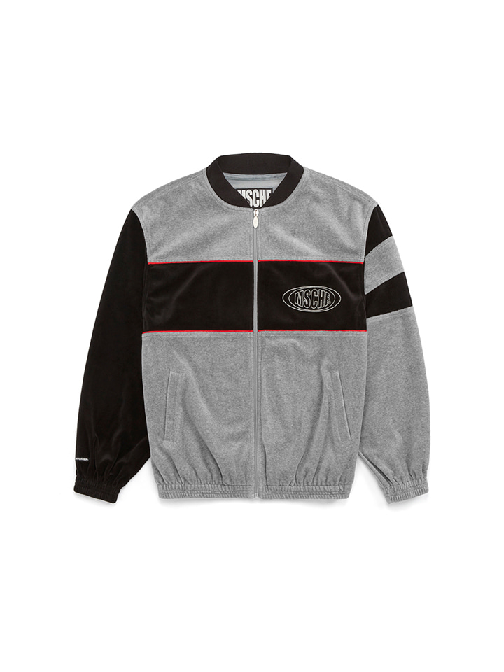 VELOUR CLUB JACKET_gray/black