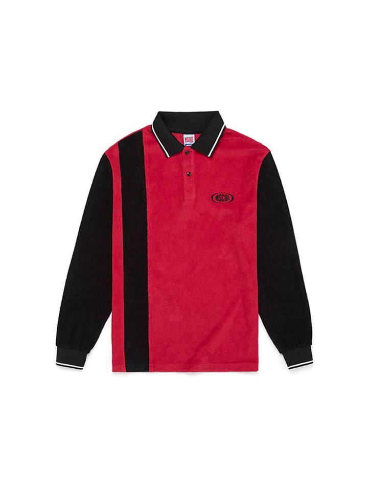 TERRY POLO T-SHIRTS_black/red