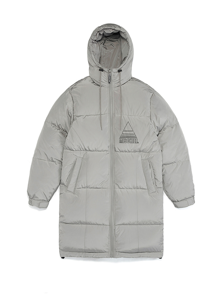 HOODED TEAM DOWN PARKA_gray