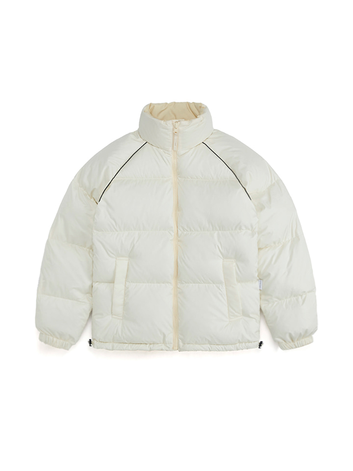 MISCHIEF FOR LIFUL PROPER REVERSIBLE DOWN PARKA_ivory/cream
