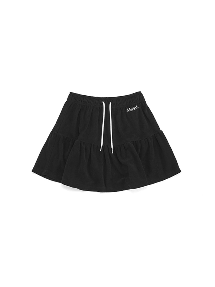 TERRY TRACK SKIRT_black