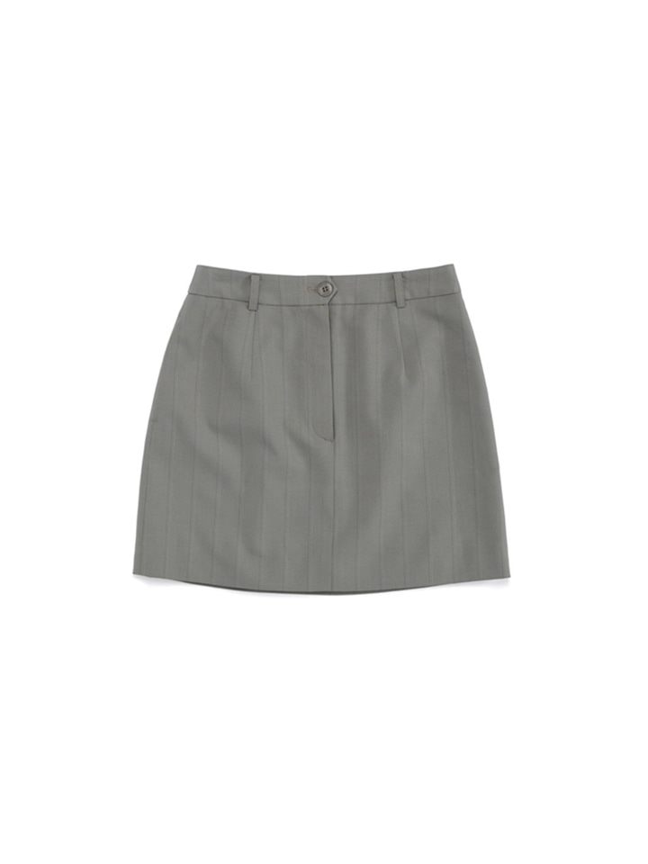 MOD SUIT SKIRT_khaki gray