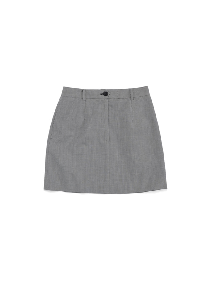 MOD SUIT SKIRT_gray check