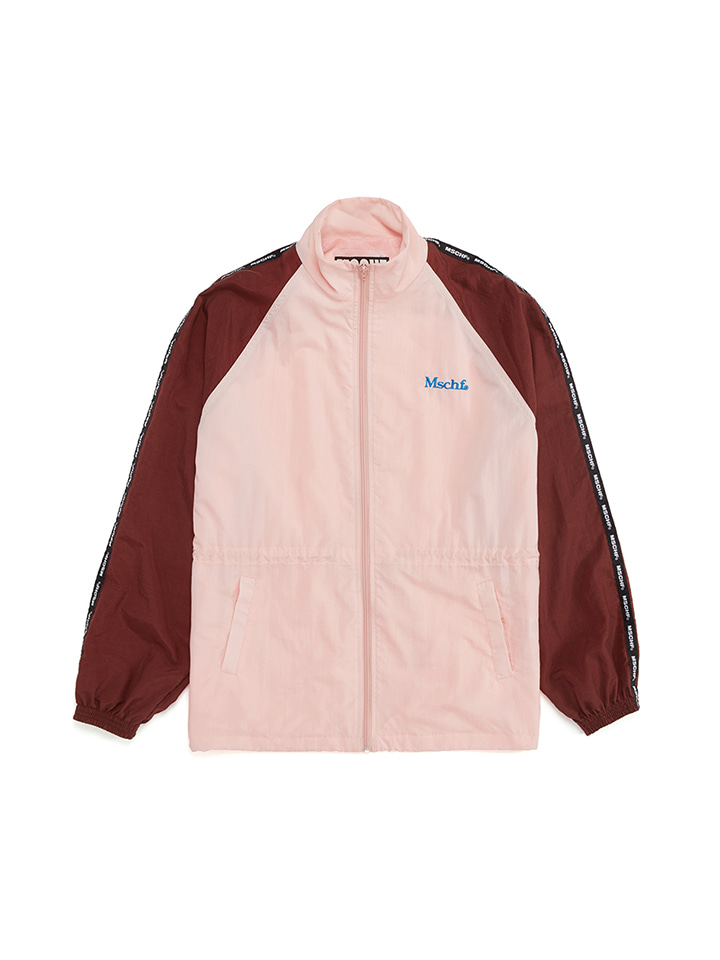 NYLON TRACK JACKET_pink/brown