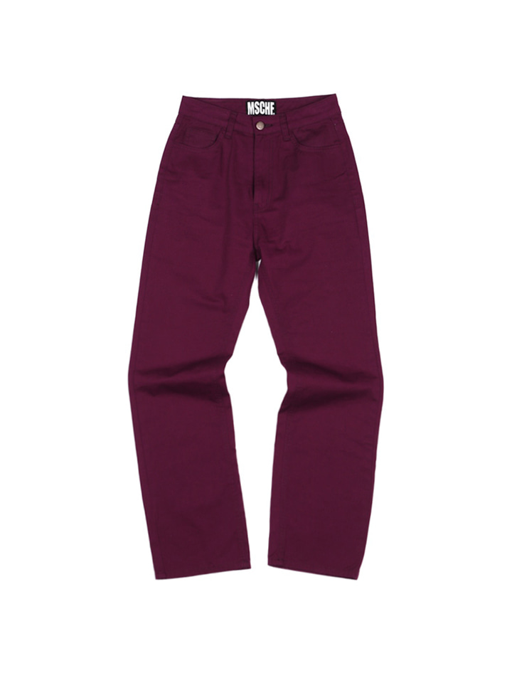 CHINO PANTS_burgundy
