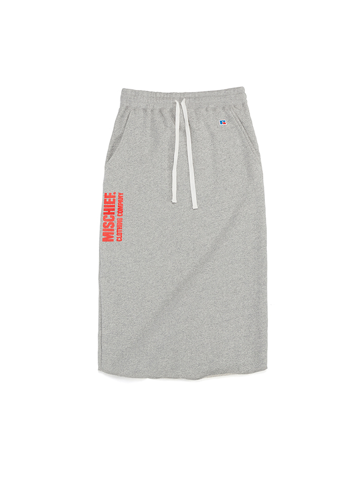TROPICAL SWEAT SKIRT_gray