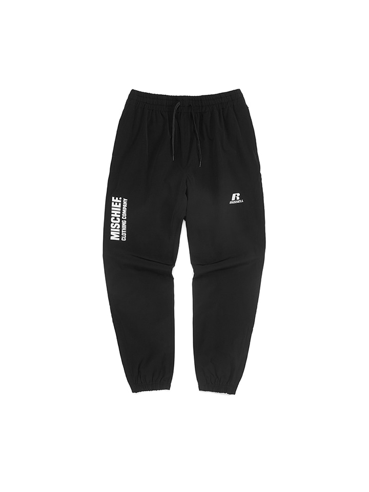 WOVEN GYM PANTS_black