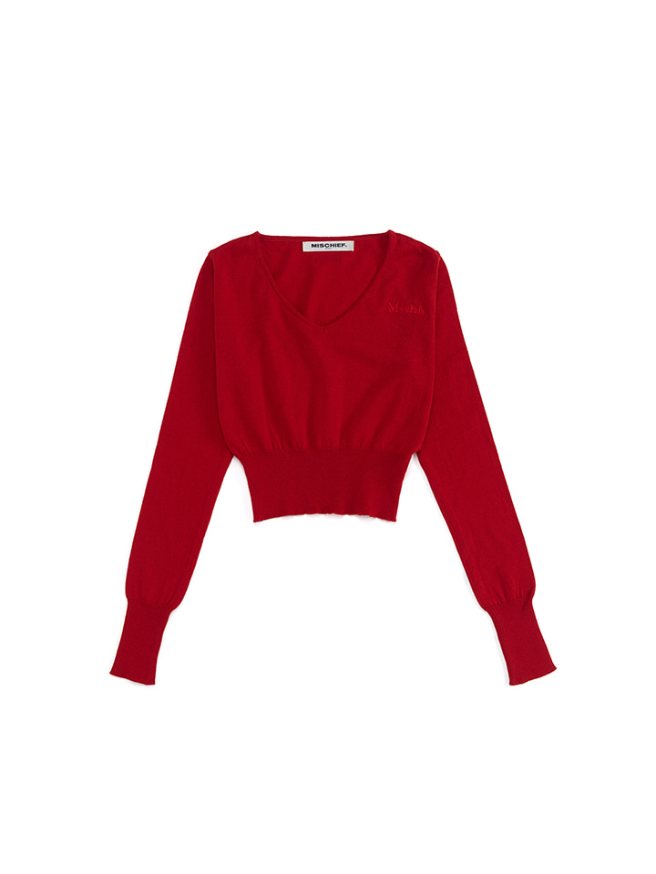 CROPPED KNIT_red