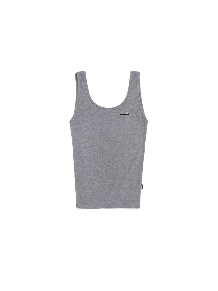 FITTED SLEEVELESS_gray