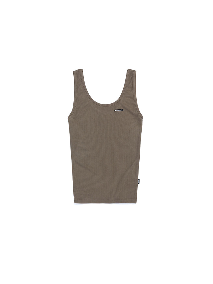 FITTED SLEEVELESS_khaki