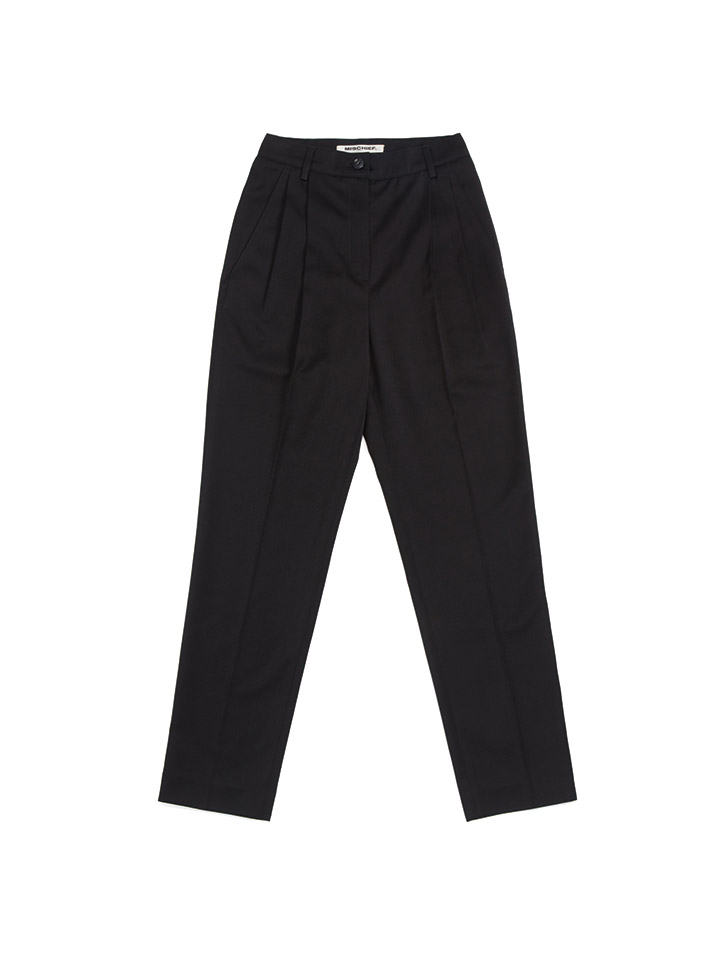 TAILORED PANTS_black