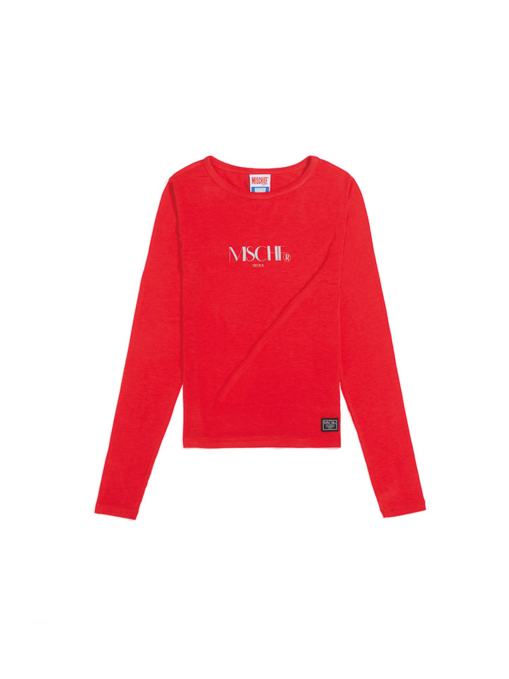 FITTED LONG SLEEVE_red