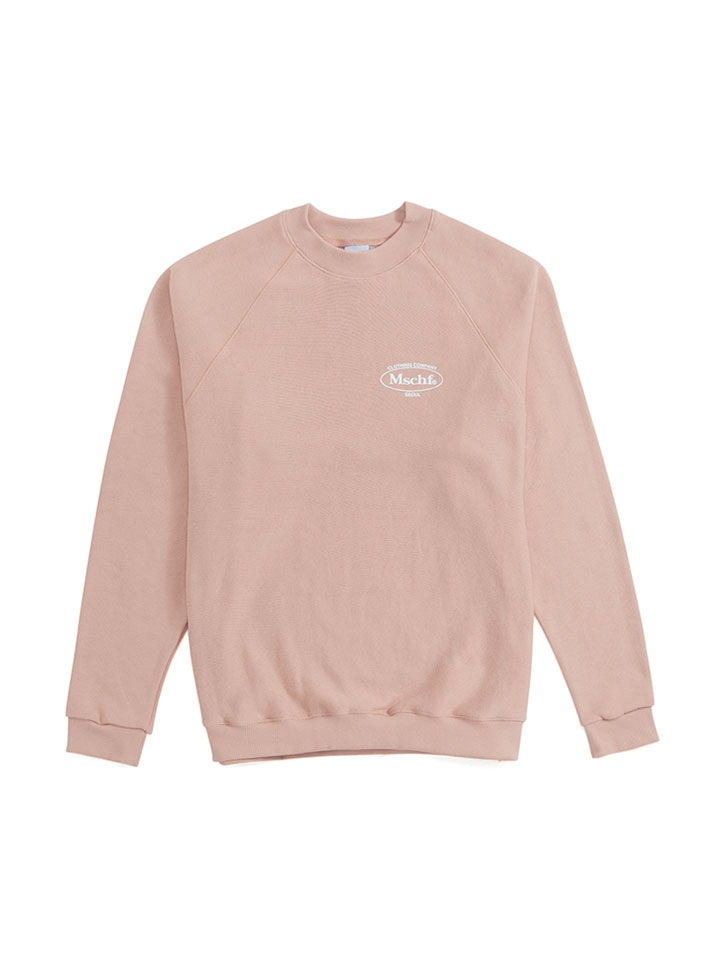 REVERSE CREWNECK_light pink
