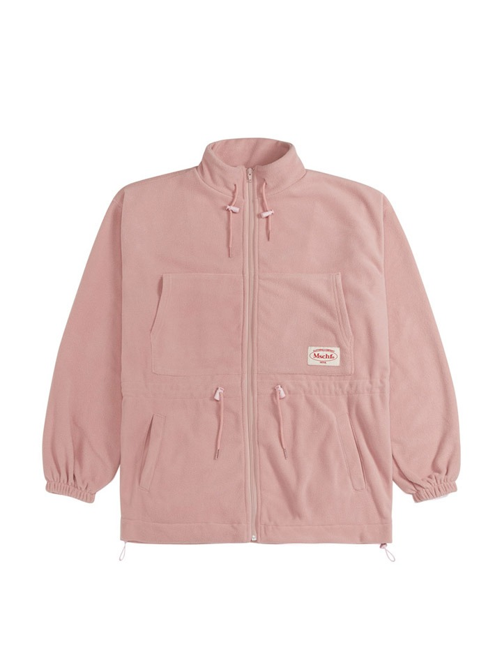 FLEECE TRACK JACKET_pink