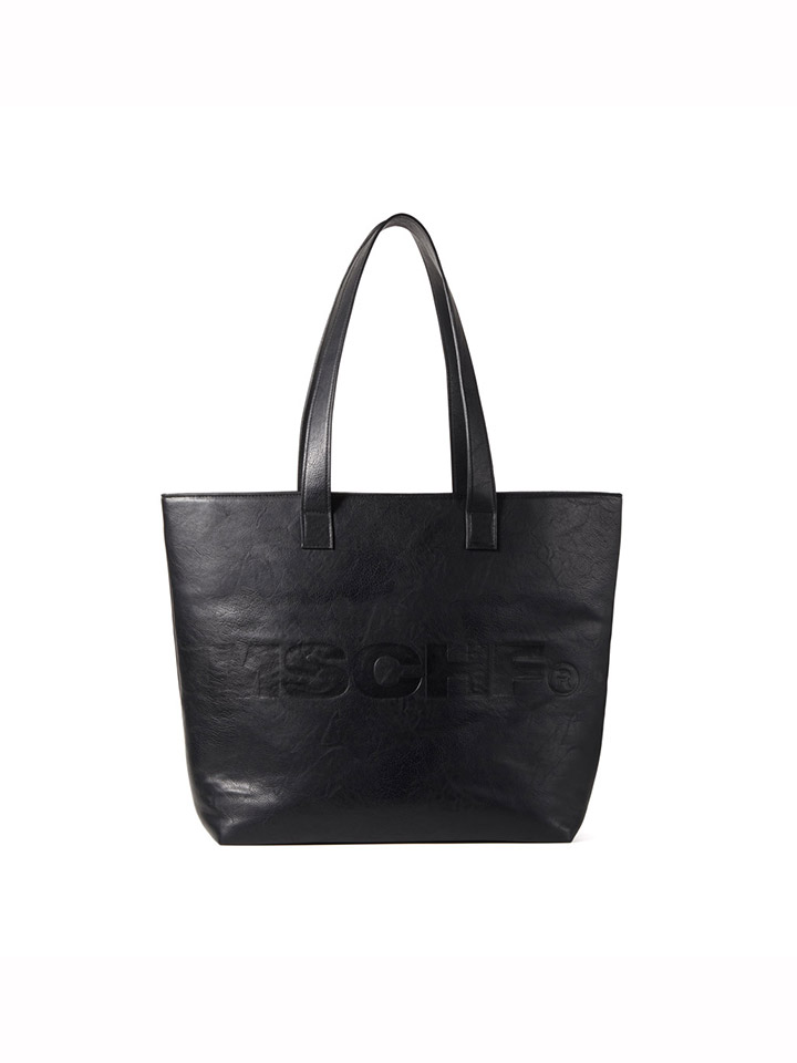 FAUX LEATHER SHOULDER BAG_black