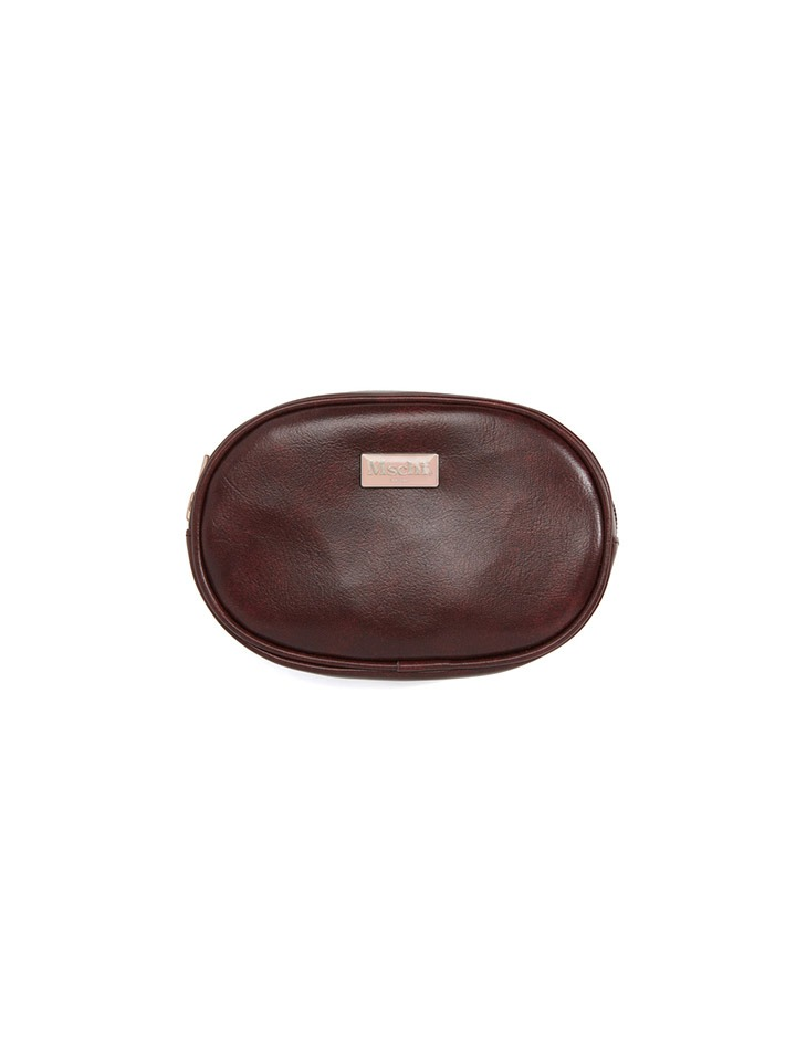 FAUX LEATHER POUCH_brown