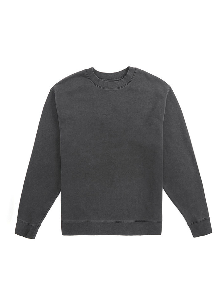 GARMENT DYED CREWNECK_black