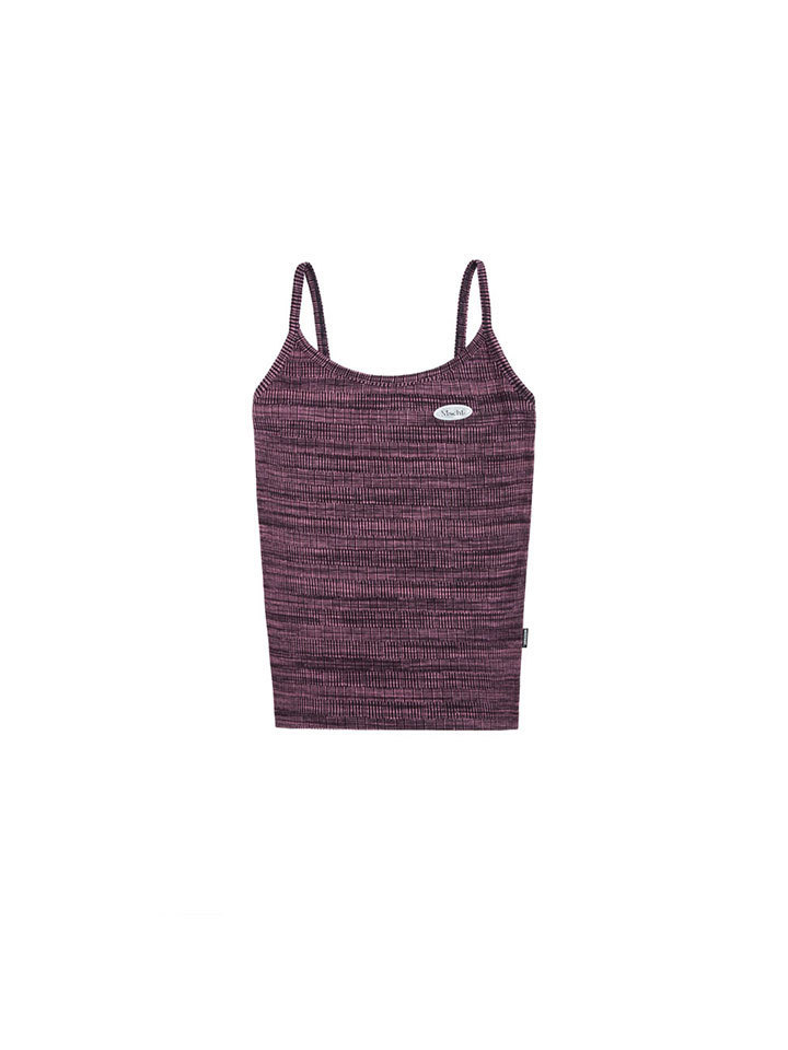 SPACE DYED KNIT TANK_space dyed fuchsia