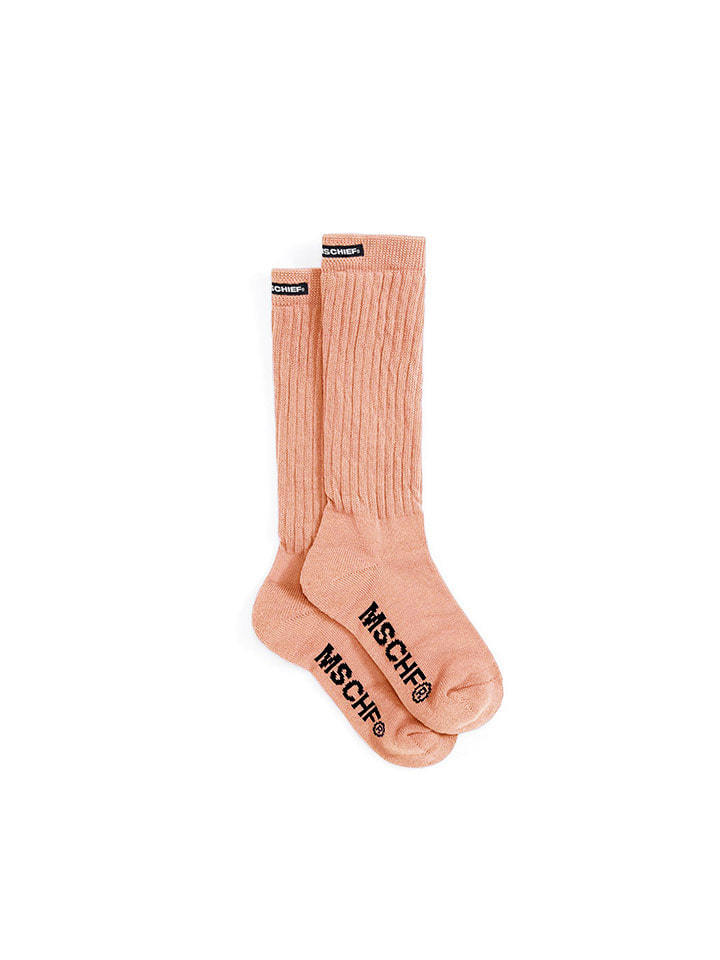 MIDDLE TUBE SOCKS_apricot