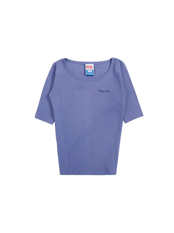 ROUND NECK SURFER TEE_periwinkle